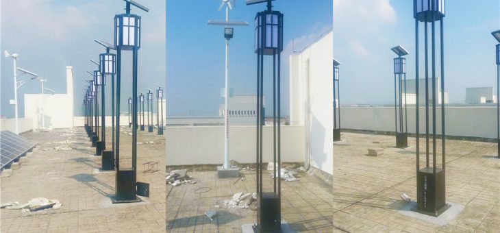 Solar Garden Light for experiment in FoShan