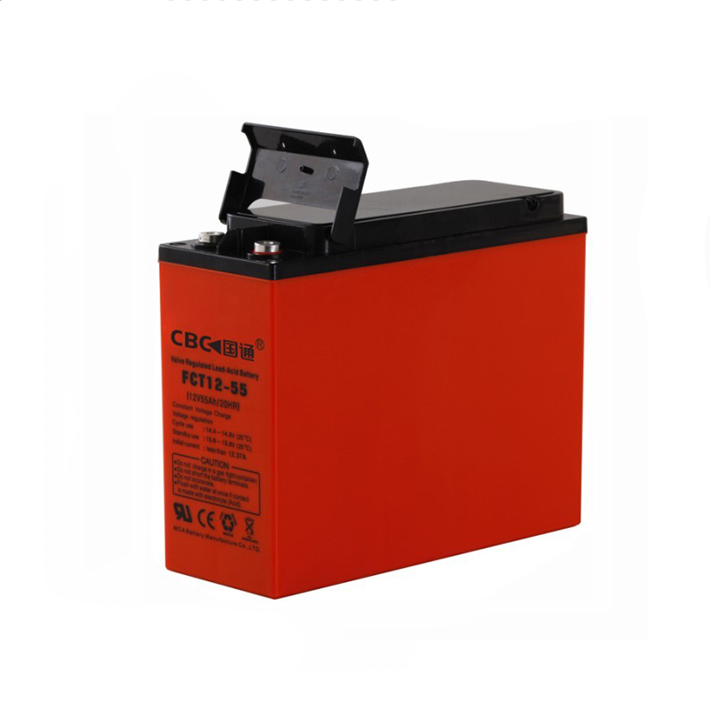 Front terminal lead acid battery